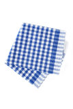 Blue napkin Stock Photography