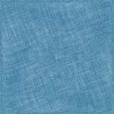 Blue Natural Cotton Fabric. Textile Background Stock Photography