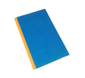 Blue natural cover notebook isolated on white. Royalty Free Stock Images