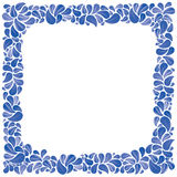 Blue natural decorative framing with leaves Stock Photos