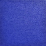 Blue natural leather texture Stock Photos
