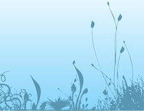 Blue Nature. Work with vectors,illustration Royalty Free Stock Images