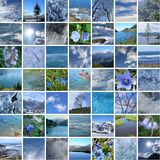 BLUE NATURE 49 PICTURES Stock Photo