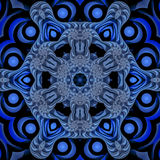 Blue nautical mandala Royalty Free Stock Photo