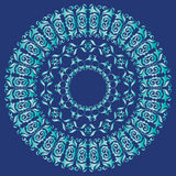 Blue and navy mandala pattern Royalty Free Stock Photo