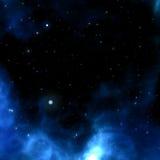 Blue nebula Stock Image