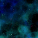 Blue nebula Royalty Free Stock Photography