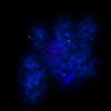 Blue Nebula. A blue nebula with stars Stock Photography