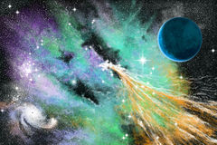 Blue nebula Stock Photography