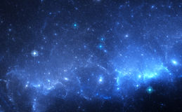 Blue Nebula in Deep Space Royalty Free Stock Photo