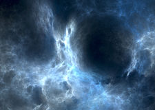 Blue nebula. Detail view of blue nebula in deep space vector illustration