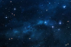 Blue Nebula space background Stock Image