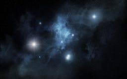 Blue nebula Royalty Free Stock Image