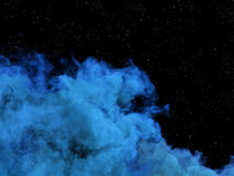 Blue nebula and stars in cosmos Stock Image