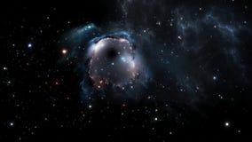 Blue nebula and stars Stock Photos