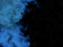 Blue nebula and stars in space Royalty Free Stock Images