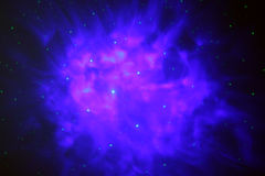 Blue Nebulas Gas Cloud Stock Image