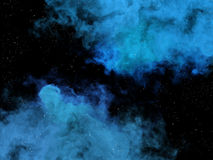 Blue nebulas and stars in cosmos Royalty Free Stock Photography