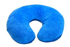 Blue  neck pillow, Stock Photos