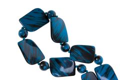 Blue necklace Royalty Free Stock Photography