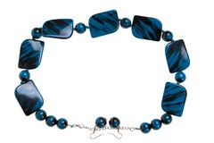 Blue necklace Royalty Free Stock Photo