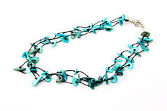 Blue necklace Stock Images