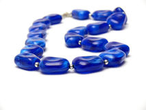 Blue necklace Royalty Free Stock Images