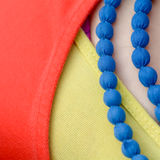 Blue necklace Royalty Free Stock Photos