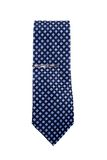 Blue necktie. A blue necktie in the box on isolated stock photo
