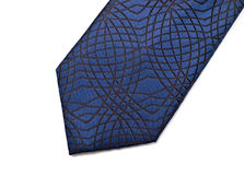 Blue necktie part Stock Photos