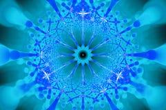 Blue negative network fractal concept stock image