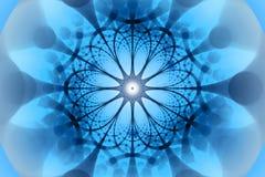 Blue negative network fractal concept royalty free stock image