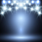 Blue neon background Stock Photography