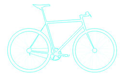 Blue Neon bicycle Stock Images
