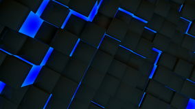 Blue neon box Royalty Free Stock Photography