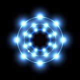 Blue neon circle Royalty Free Stock Image