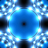 Blue neon circle Royalty Free Stock Photography