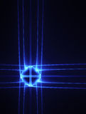 Blue neon cross Royalty Free Stock Photography