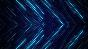 Blue neon light abstract visual geometry motion graphic technology digital stock footage