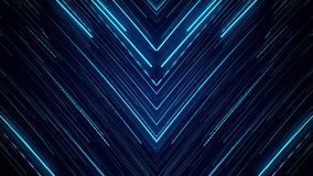 Blue neon light abstract visual geometry motion graphic technology digital stock video