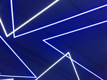 Blue neon lights royalty free stock images