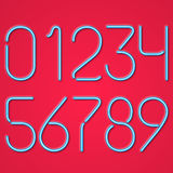 Blue Neon Numbers Royalty Free Stock Images