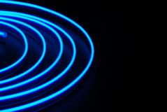 Blue neon stripe Stock Photos