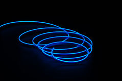 Blue neon stripe Royalty Free Stock Photos