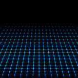 Blue neon tech squares vector design Royalty Free Stock Photography