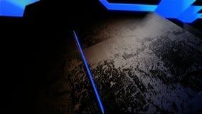 Blue neon tile stock video