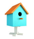 Blue nesting box isolated on white background Royalty Free Stock Photos