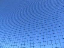 Blue net. A big net on blue sky Stock Photos
