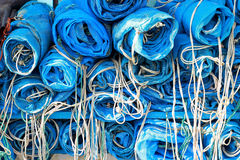 Blue net for catch fish Royalty Free Stock Images
