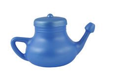 Blue neti pot Royalty Free Stock Images